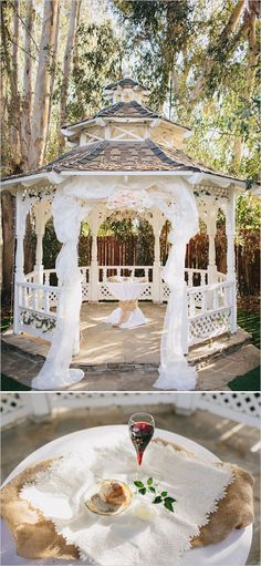 simple decorations for a gazebo wedding Outdoor Wedding and