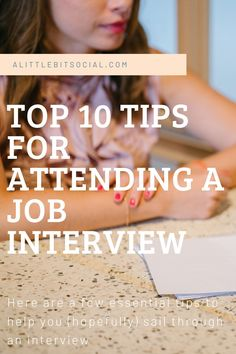 A few essential tips to help you sail through an interview and land that job!