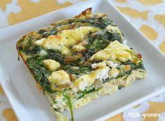 Spinach and Feta Frittata | Little Grazers