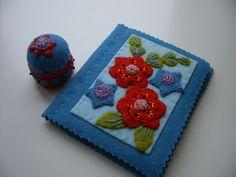 Wool Felt Needlecase and Bottlecap Pincushion