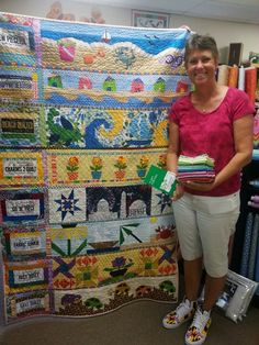 Spring Water Designs: We Have a Row By Row Winner at Spring Water Designs! - Spring Water Designs: We Have a Row By Row Winner at Spring Water Designs! Row By Row 2016, Row By Row Experience, Fiber Art Quilts, Beach Quilt, Contemporary Quilts, Patchwork Fabric, Spring Water, Quilted Wall Hangings, Small Quilts