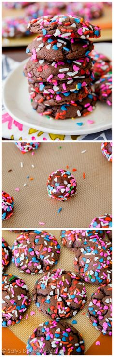 Colorful choco chips!