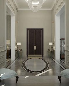 CONTEMPORARY HOME ENTRANCE | Enter your house and feel luxury at first glace. That is the real modern and luxury synthesis. | http://www.bocadolobo.com/ | #luxuryfurniture #contemporary