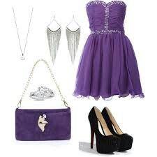 Purple outfit idea  Orange Outfits, Lila Outfits, Cute Outfits, Formal Outfits, Lady V, Purple Dress, What To Wear, Style Me, Prom Dresses