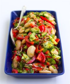 Zucchini Curry, Zeina, Bean Salad, Going Vegan, Salad Recipes, Vegetarian Recipes, Side Dishes, Veggies, Yummy Food