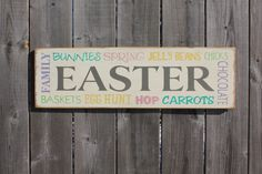 EASTER sign made by The Primitive Shed, St. Catharines