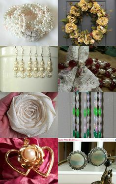 Petals and Pearls by Dawn Harrison on Etsy--Pinned with TreasuryPin.com