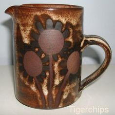 Briglin pottery Sunflower jug