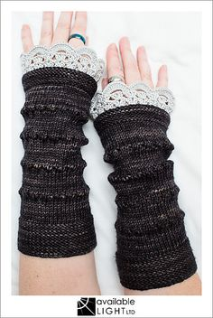 Ravelry: Caerwyn Sleevies Fingerless Gloves Mitts pattern by handmade by SMINÉ