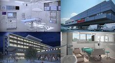 Render de infrestructura Hospitalaria, animación Hospital, Clínica, Chile, 3D, Por VOXEL