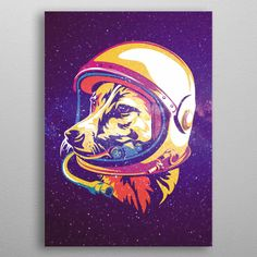 Want a metal print copy?: Visit Artist Store Description: LAIKA was a Soviet space dog who became one of the first animals in space, and the first animal t Laika Dog, Belka And Strelka, Dog Suit, Dog Poster, Artsy Fartsy, New Art, Vostok 1, Poster Prints, Foxes
