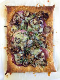 Norwegian Cheese, Onion, and Mushroom Tart   Recipe at Outside Oslo