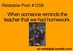 School and Teachers... The kids who do there homework and WANT to check it over.... wasn't always me