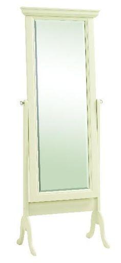 """White Cheval Mirror 24.5""""x68"""""""