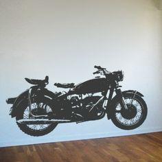vintage motorcycle nursery   Home » Vintage Bike - Motorcycle - Wall Decals Stickers