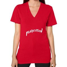 Flexicution V-Neck (on woman) Shirt