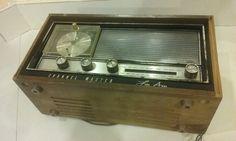 Vtg 1966 CHANNEL MASTER Model 6440 Am/Fm Wooden Tabletop Alarm Clock Tube Radio by VINTAGERADIOSONLINE on Etsy