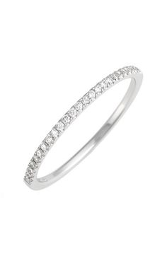 Bony Levy 'Stackable' Straight Diamond Band Ring (Nordstrom Exclusive) available at #Nordstrom