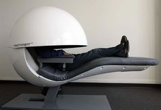 SnoozeCubes / MetroNaps sleep pods! 1st launched at Dubai Airport 2013. $18/hr. invented by Larry Swann. touch-screen internet connected / flight info / tv; beats the point of snoozing or turning off but flight info & alarm could help ; )