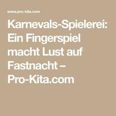 Karnevals-Spielerei: Ein Fingerspiel macht Lust auf Fastnacht – Pro-Kita.com