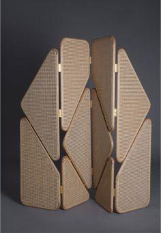 Les plus beaux paravents du moment : Paravent Eva Partition, Thomas Trad (Joy Mardini Design Gallery)