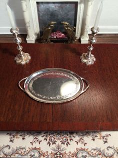 Dollhouse Miniature Artisan Signed William G Blacklock Sterling Silver Tray