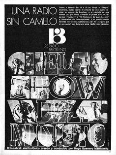 EL SHOW DEL MINUTO, programa de Radio BELGRANO, Buenos Aires, década del 60.
