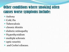 Effect of smoking on symptoms of allergic rhinitis The harmful effects of tobacco smoke on human health, including respiratory health, are extensive and well documented. Previous data on the effect of smoking on rhinitis and allergic sensitization are inconsistent.