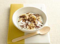 Banana-Nut Coconut Yogurt Bowl   The classic combo of banana and nut make this coconut yogurt the perfect grab-and-go breakfast! @yoplait #easyrecipes #desserts