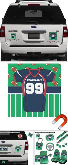 Football Jersey Square Car Magnet (Personalized) Magnetic Car Stickers, Design Your Own Car, Custom Car Magnets, Car Painting, Football Jerseys, Car Decals, Custom Cars, Car Accessories, Pattern Design