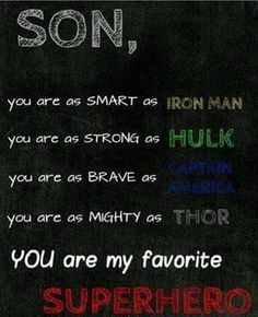 Superhero room Make pics of super hero's (above) Add you are more loved than you'll ever know and pic of family You Are My Superhero, Superhero Room, Superhero Family, Superhero Cosplay, Boy Room, Kids Room, My Son Quotes, Mother Son Quotes, Daughter Quotes