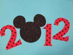 2012 Mickey Mouse Iron On Applique Red by Bayjorder on etsy.com (do 2015)