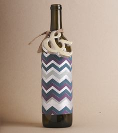 Add a touch to style to any wine gift with fine paper and a little accent