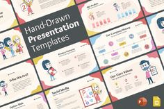 Hand-Drawn Presentation Template for PowerPoint and Google Slides   GraphicMama 3d Presentation, Corporate Presentation, Presentation Templates, Great Presentations, Free Web Fonts, Business Proposal, Slide Design, Core Values, Business Planning