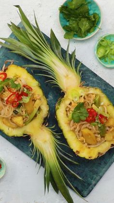 Up your plating game with this pineapple pad thai