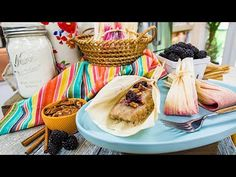 Recipes Blackberry and Pecan Tamales: Pati Jinich is showing you how to make homemade sweet tamales. Masa For Tamales, Sweet Tamales, Mexican Dinner Recipes, Mexican Dishes, Mexican Desserts, Food Tv Shows, Mexico Food, How Sweet Eats, Family Meals