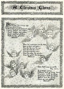 Old Design Shop ~ free printable vintage 1900 Christmas chorus angels magazine article