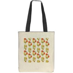Flower Tote | Tote with floral sign on either side.