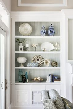 How to decorate a Bookcase Decor Bookcase Decor This is a great example of how to decorate bookcases without making them feel too busy sources on Home Bunch