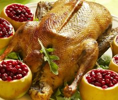 Photo about Christmas roast goose with apples stuffed with cranberries. Image of delicious, cranberries, delicacy - 17123015 Christmas Roast Goose, Roast Goose Recipes, Wild Game Recipes, Roast Duck, Victorian Christmas, English Christmas, Grilling Recipes, Traeger Recipes, Food Preparation