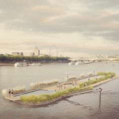 13 projects that could change the face of London: Floating freshwater pools for the Thames by Studio Octopi