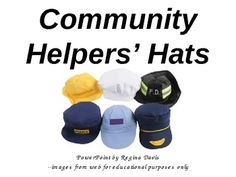 This is a vocabulary building PowerPoint for Pre-Kindergarten, Kindergarten, and First Grade students showing different types of community helpers ...