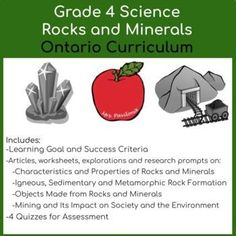 Elementary Science Classroom, Classroom Resources, Teaching Resources, Teaching Ideas, 4th Grade Activities, Science Activities For Kids, Ontario Curriculum, Learning Goals, Teacher Favorite Things