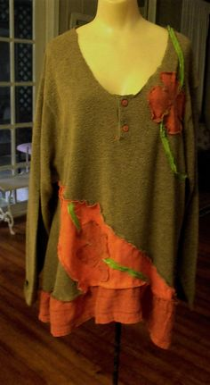 Plus Size/Embellished/Ruffled/Patched/Fall 2015/Tunic by SheerFab