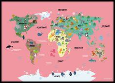 Verdens kort med dyr No5