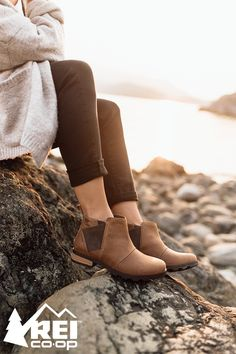 Rain-ready boots with plenty of style? Yes please. SOREL Emelie Chelsea women's boots are completely waterproof with seam-sealed construction. And with elastic gores and pull loops, they're easy to slip onto any feet and go. Shop now.