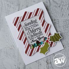 Keep it CASual #6 - Merry Christmas Shaker Card - Andrea WalfordTutorial