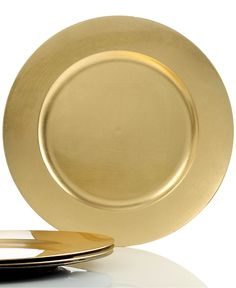Charter Club Dinnerware, Set of 4 Gold Charger Plates - Serveware - Dining & Entertaining - Macy's