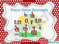 Place Value Decimals teaching resource