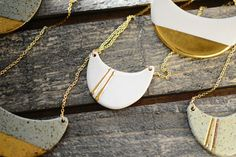Don't miss this gorgeous gold-dipped porcelain jewelry at Re:Make Austin!